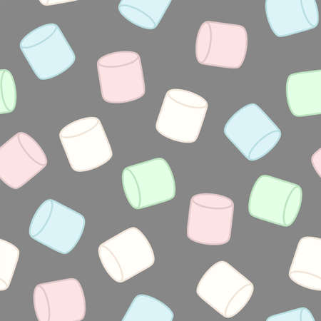 다채로운 마쉬 멜 로우. 원활한 벡터 패턴