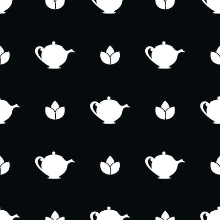 Herbal tea. Seamless vector pattern