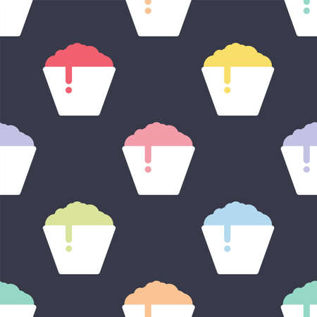 Shaved ice. Flat style. Seamless vector pattern