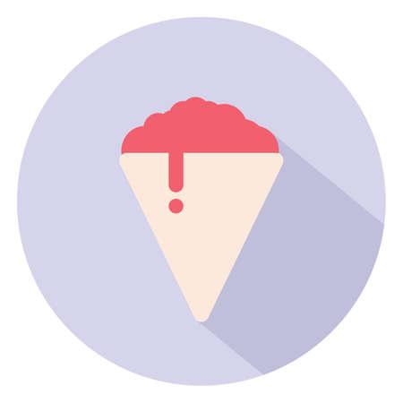 Shaved ice. Flat icon isolated on white background Illustration