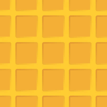 Cartoon waffle. Seamless texture or background.