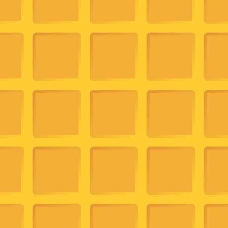 Cartoon waffle. Seamless texture or background.
