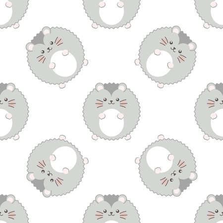 Dwarf hamster. Seamless vector pattern