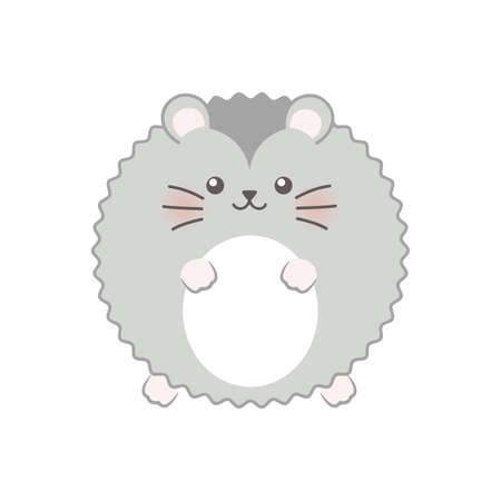 Dwarf hamster. Vector illustration. Isolated Stock Illustratie