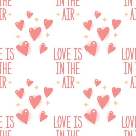 Love is in the air. Seamless vector pattern