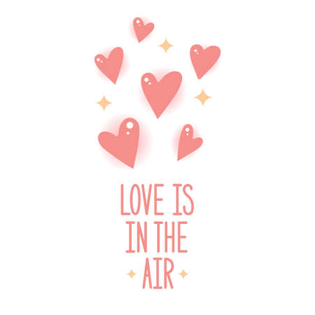 Love is in the air. Vector illustration