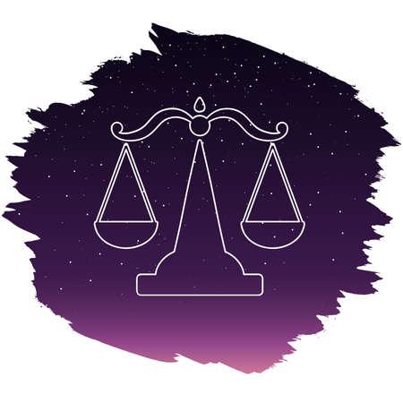 Zodiac sign - libra. Vector illustration Illustration