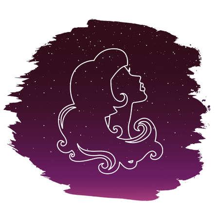 Zodiac sign - Virgo. Vector illustration