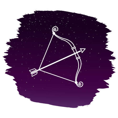 Zodiac sign - Sagittarius. Vector illustration