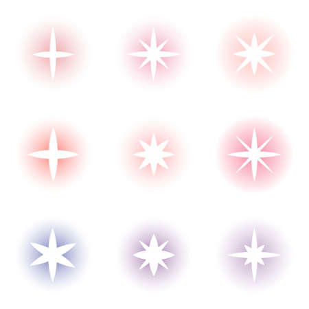 Star icon set. Vector collection isolated on white background