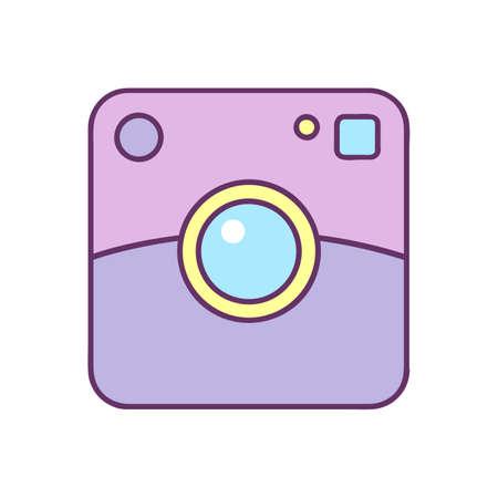 Polaroid icon. Vector illustration isolated on white background Illustration