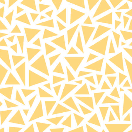 Yellow triangles. Seamless vector pattern on white background Ilustrace
