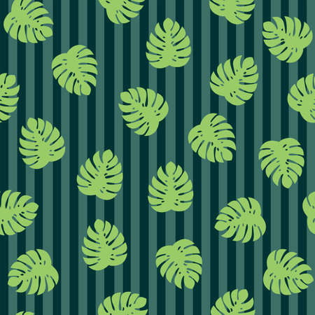 Monstera  leaves. Tropic plant. Seamless vector pattern. Nature pattern for fabric or wallpaper