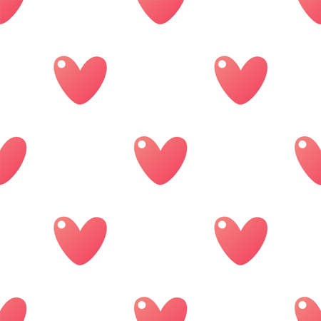 Cute cartoon hearts. Seamless vector pattern. Happy Valentines day!
