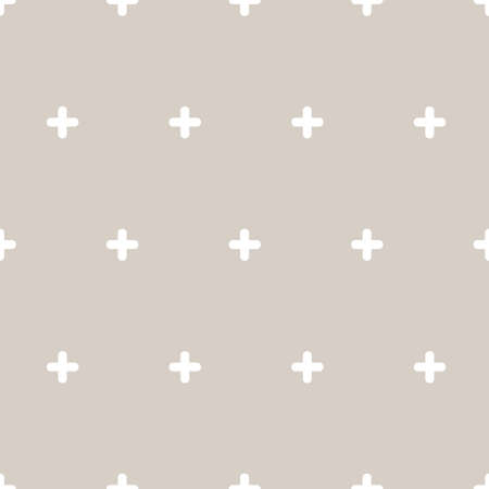 Pattern with white cross. Seamless vector background
