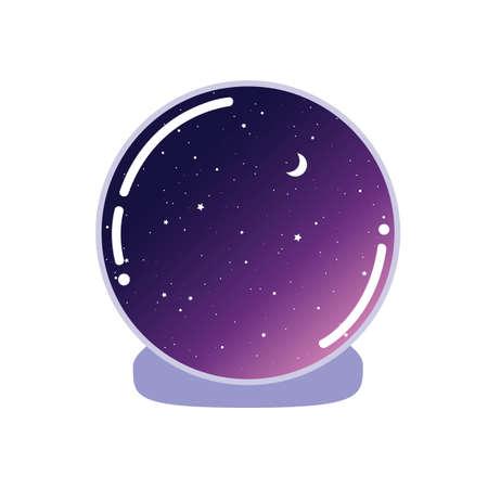 Magischer Ball. Vektor-Illustration isoliert auf weißem Hintergrund Vektorgrafik