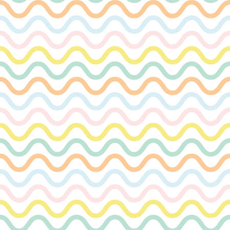 Cute waved pattern. Seamless colorful vector background