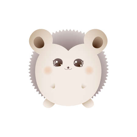 Cute hedgehog. Vector illustration isolated on white background
