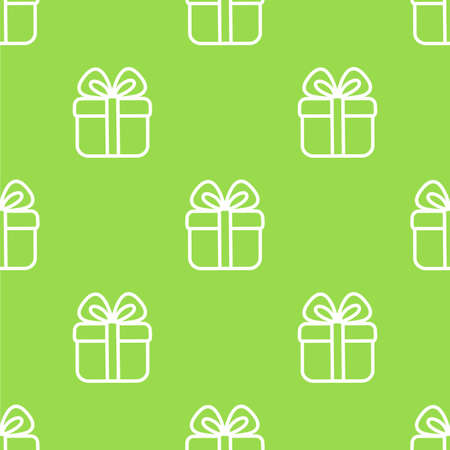 Cute little gift seamless vector pattern. Simple style