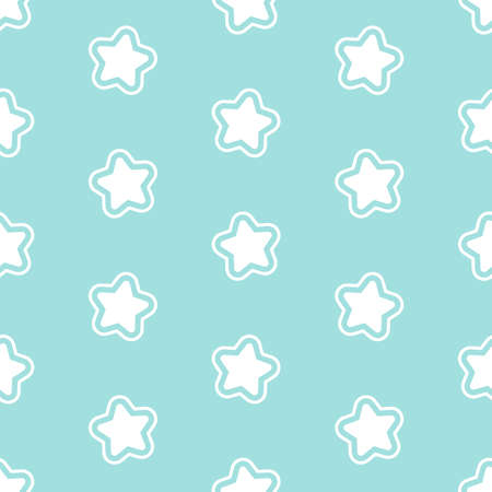 Cute pattern with little stars. Seamless vector background Ilustrace