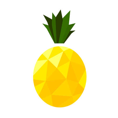 Isolated low poly pineapple. Fruit vector illustration