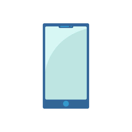 Cartoon phone. Flat icon. Vector illustration Ilustrace