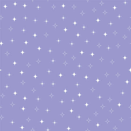 Cute cartoon stars. Seamless vector pattern Ilustrace