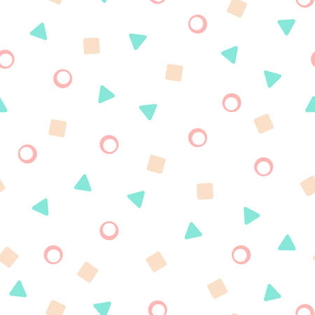 Abstract confetti pattern. Seamless vector pattern