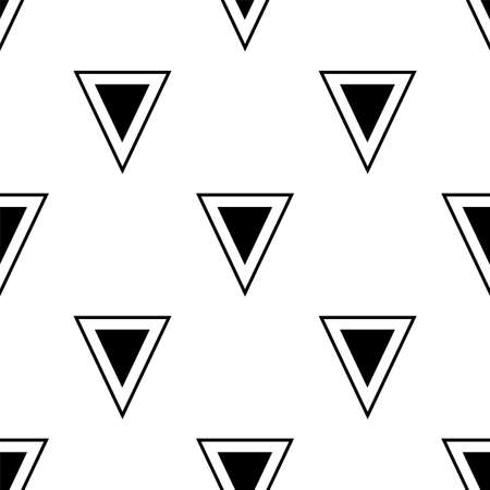 Abstract triangle pattern. Black and white simple pattern