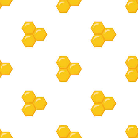 Honeycomb. Cute cartoon vector illustration. Seamless pattern