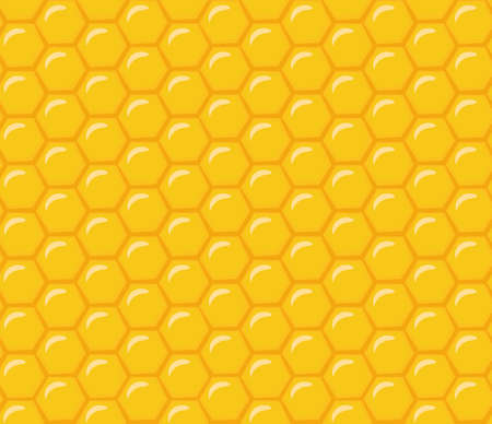 Honeycomb. Seamless vector pattern. Cute cartoon background Ilustrace