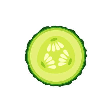 Gurkenscheibe Cartoon-Symbol. Vektor-Illustration