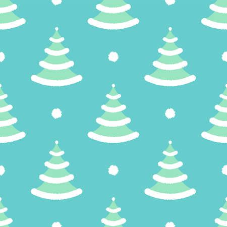 Winter christmas with snow. Seamless vector pattern
