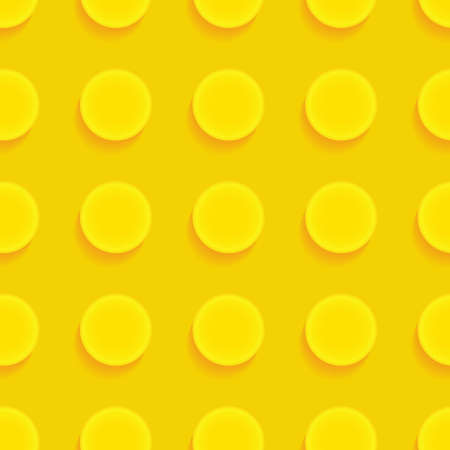 Toy brick puzzle. Seamless vector pattern in cartoon style