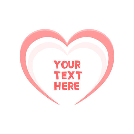 Cute heart frame for your text. Vector illustration