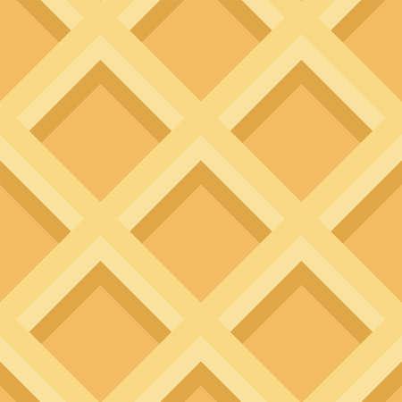 Seamless waffle texture. Vector illustration. Ornamental pattern 矢量图像