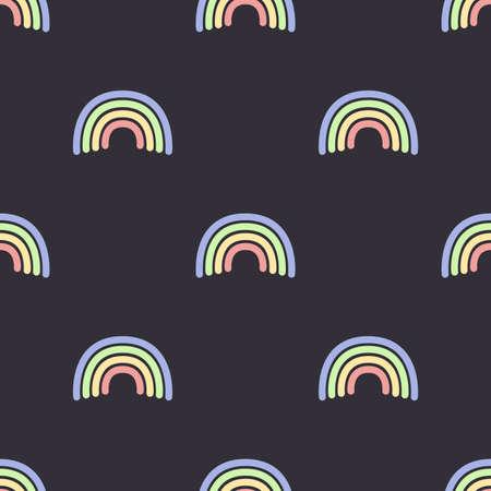 Cute simple rainbow pattern. Seamlee vector illustration