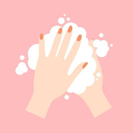 Wash your hands. Cute cartoon vector illustration