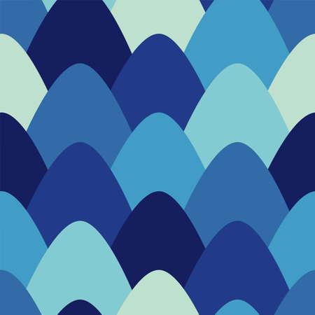 Cartoon scales seamless vector pattern. Simple illustration 矢量图像