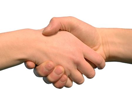 Hand Shake As A Symbol For Help Or For Closing A Contract Stock