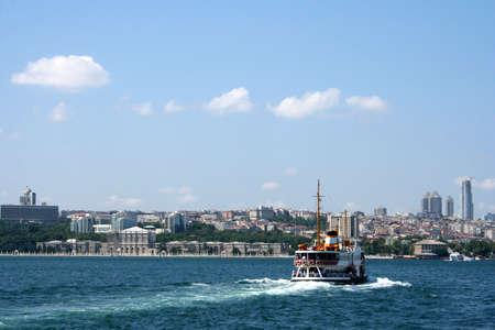 seabus: ferryboat crossing the Bosphorus Stock Photo