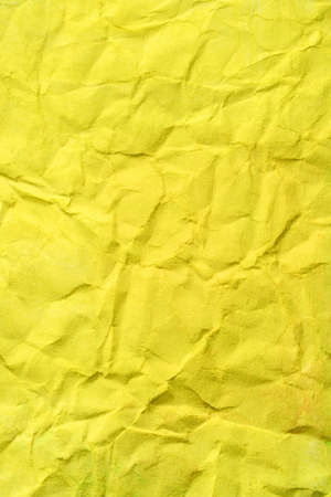 Yellow color wrinkled paper as background. Art is painted by photographer. Stock Photo - 3861982