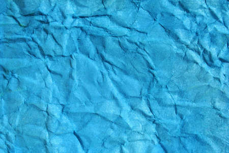 Turkish blue color wrinkled paper as background. Art is painted by photographer. Stock Photo - 3861988