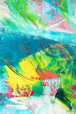Colorful painted canvas as background. Art is created and painted by photographer. Stock Photo