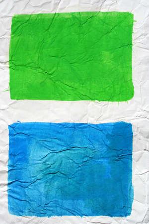 Blue and green colors painted paper as background. Art is painted by photographer. Stock Photo - 4211953