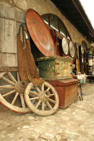 bazaar: Antique bazaar at street in