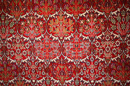 パターンを持つ美しいトルコのカーペット 写真素材
