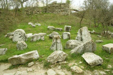 troy: Ruins of ancient troy city, Canakkale (Dardanelles)  Turkey