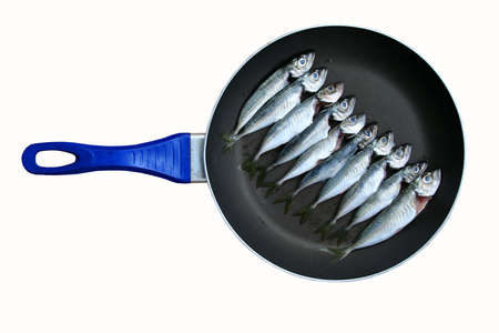 fish in the pan, ready to cook Stock Photo - 4830675
