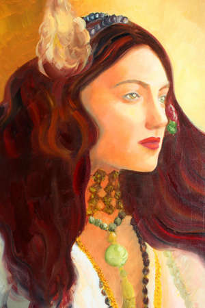 Portrait painting. Art is created and painted by photographer. photo